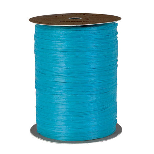 1 Roll Aqua Raffia Ribbon (100 yds.)