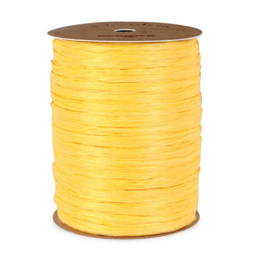 1 Roll Yellow Raffia Ribbon (100 yds)
