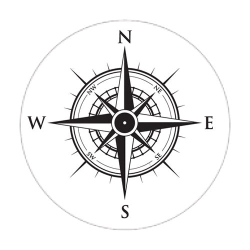 6 Compass labels 3""