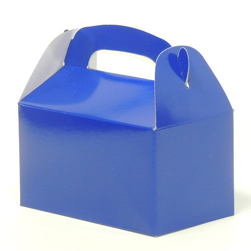 "Blue mini travelers box 6 1/4"" x 3 1/2"" x 6"""