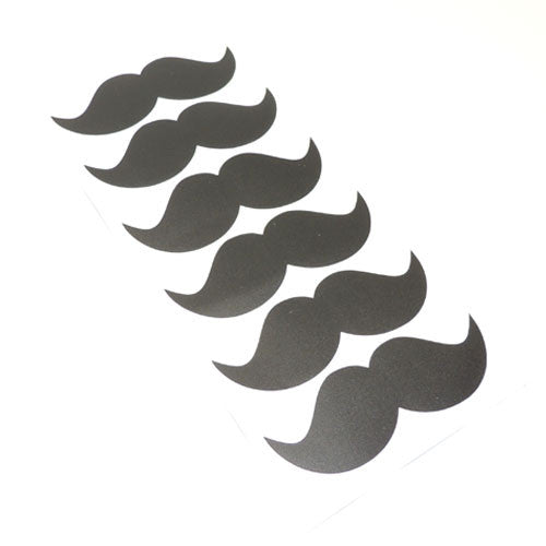 Sheet of 6 Mustache Decorative Stickers
