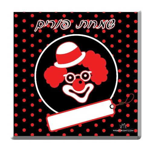 24 Black & Red Clown Cards