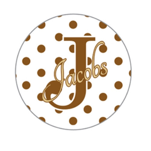 Sheet of 20 Personalized Circle Labels
