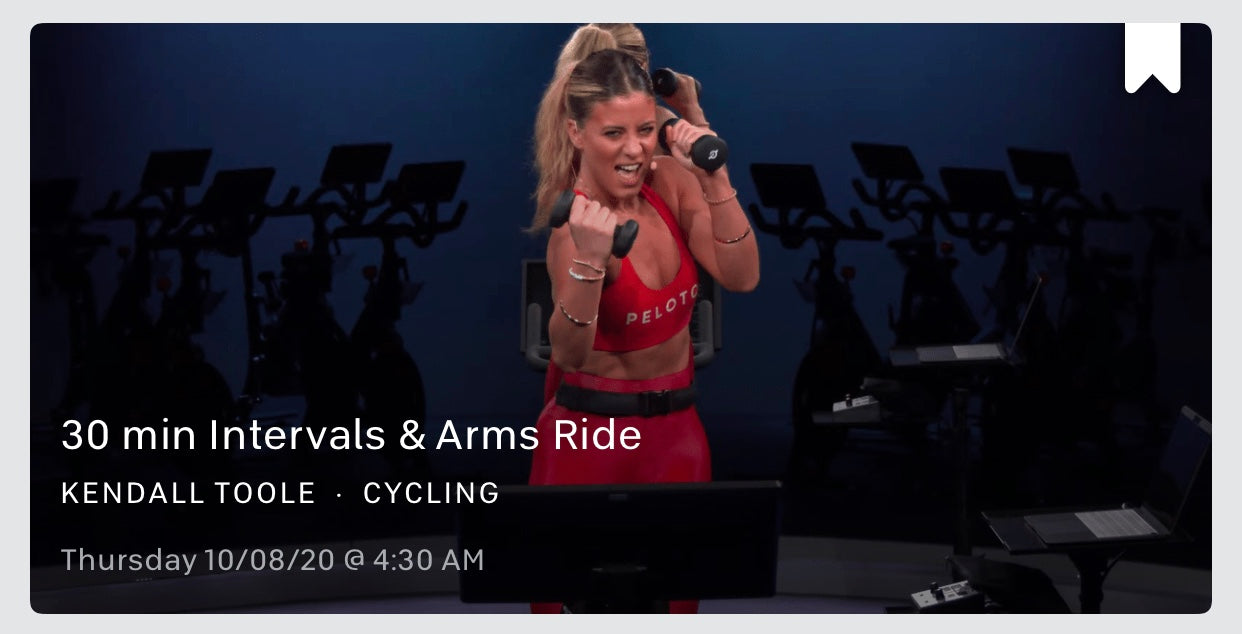 Peloton class information with Kendall Toole