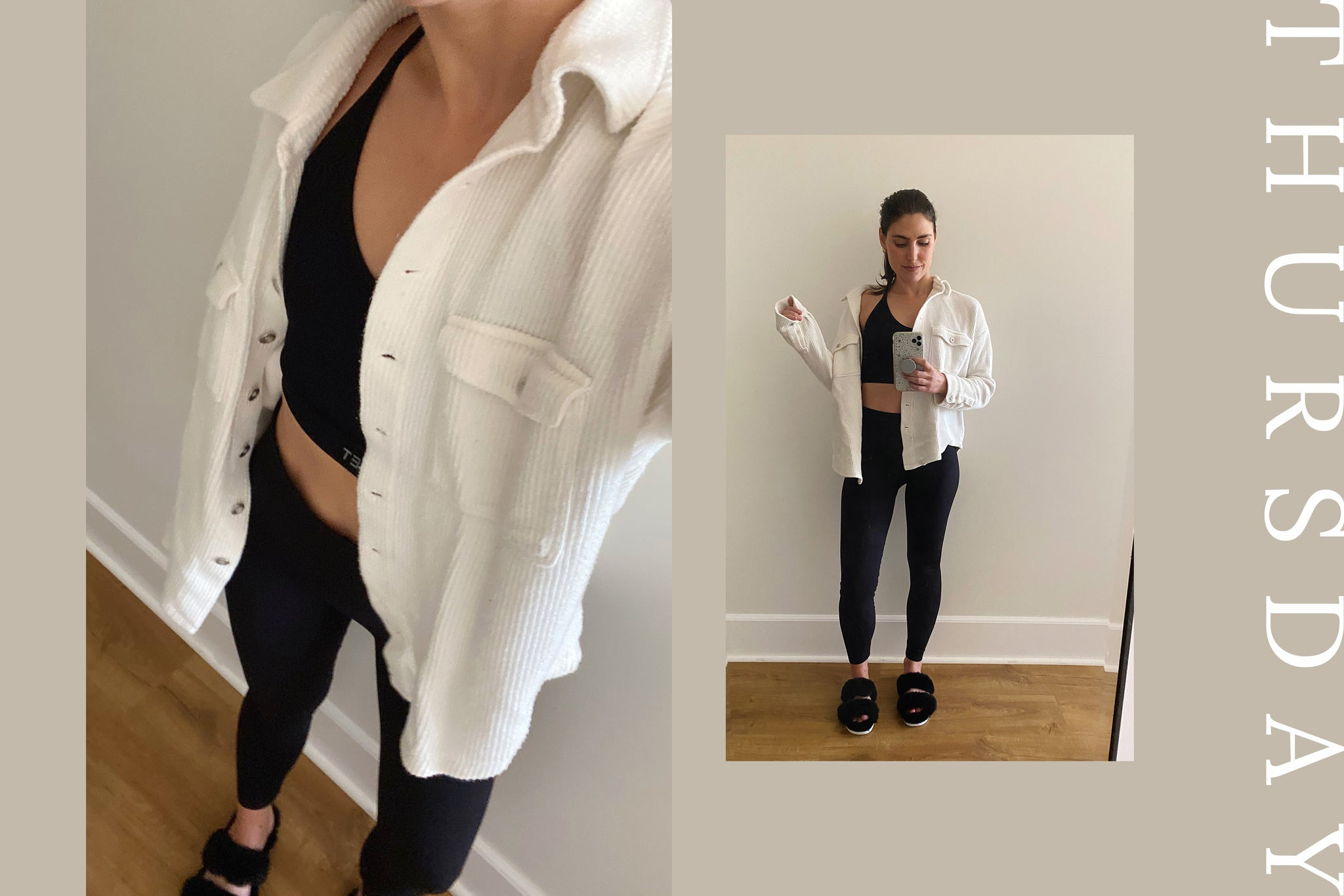 woman wearing workout clothes