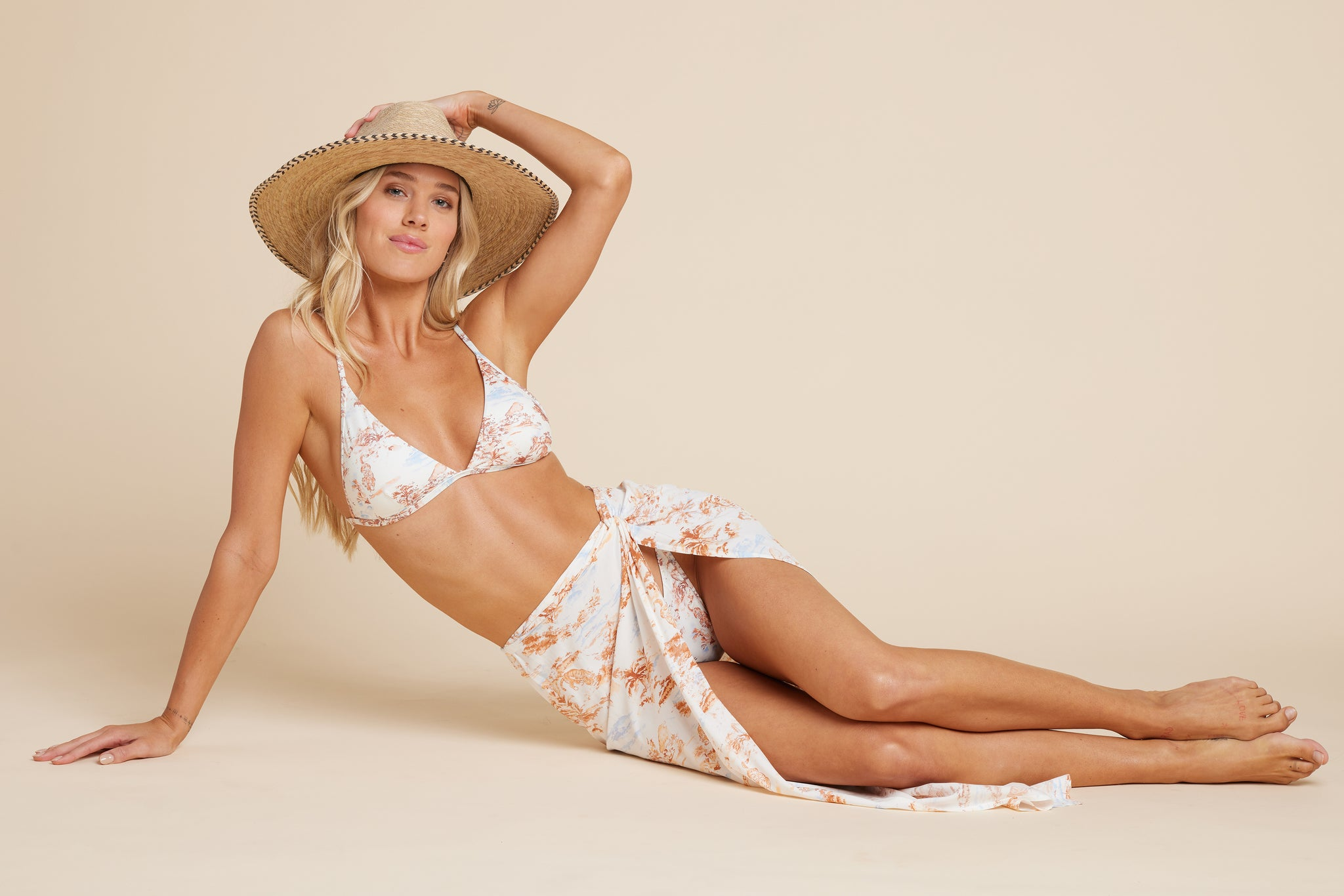 LSPACE Tropical Sands print Eco Chic swimwear