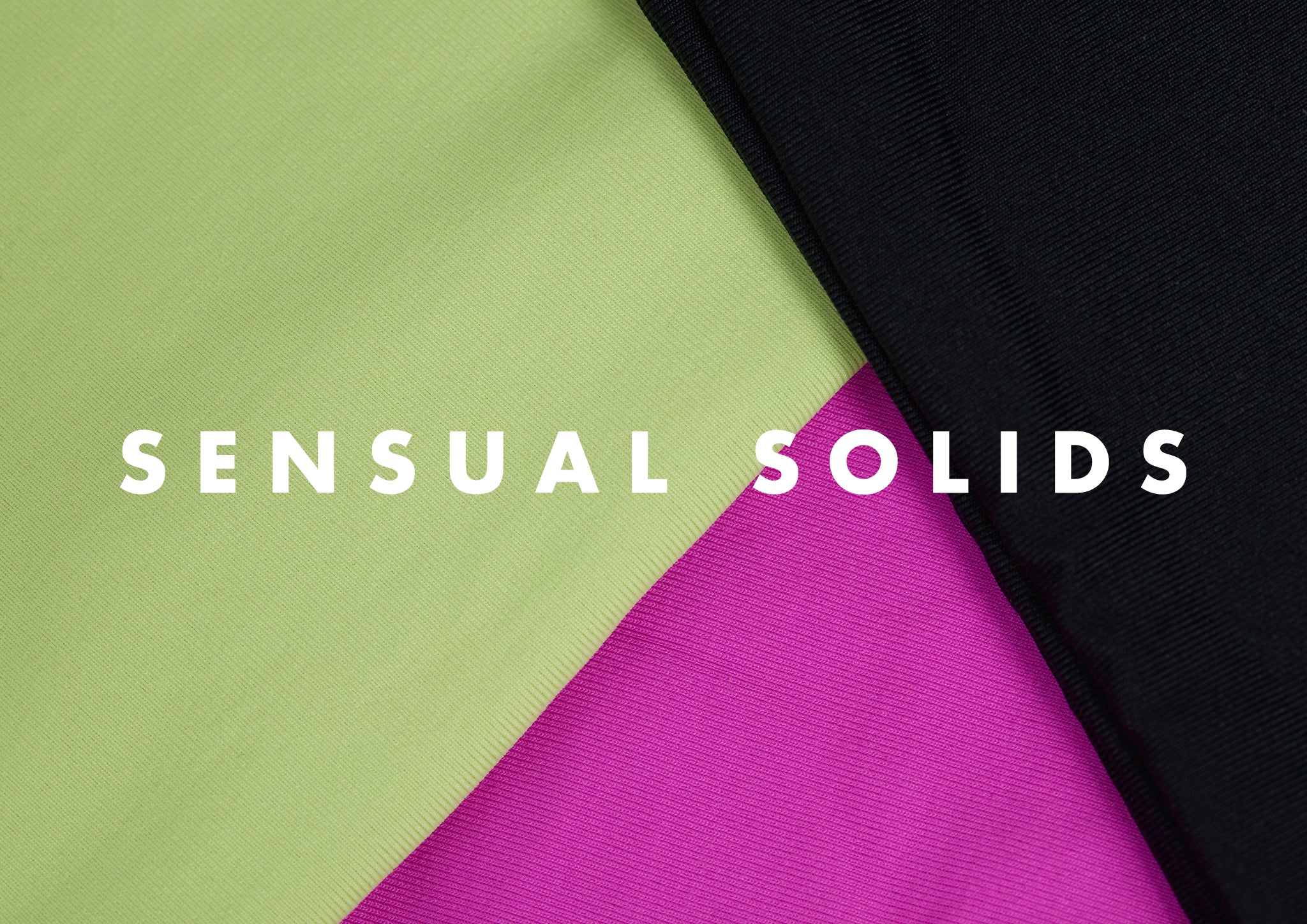close up of L*Space solid colored fabrics