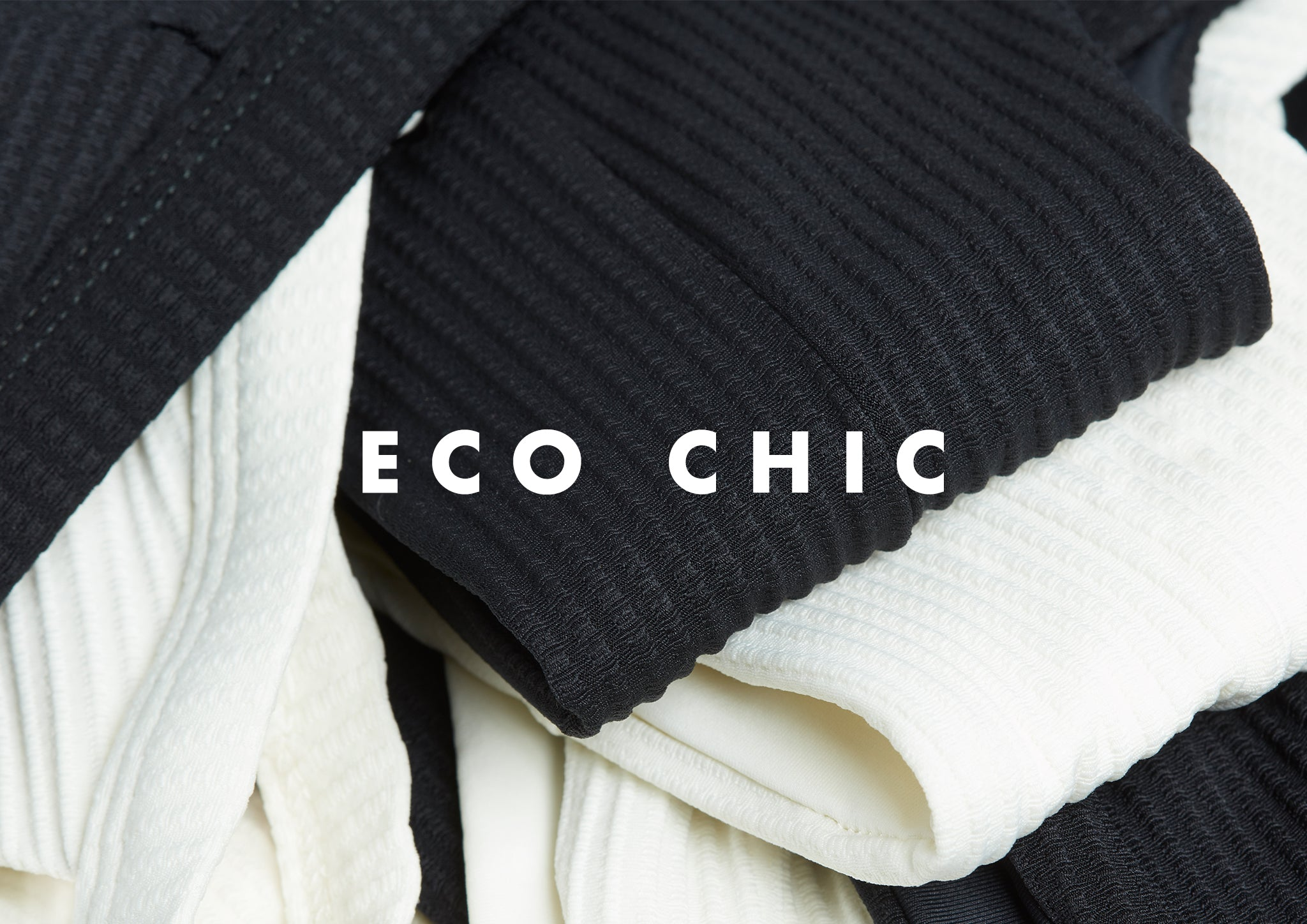 close up image of L*Space eco chic sustainable textured swimsuits