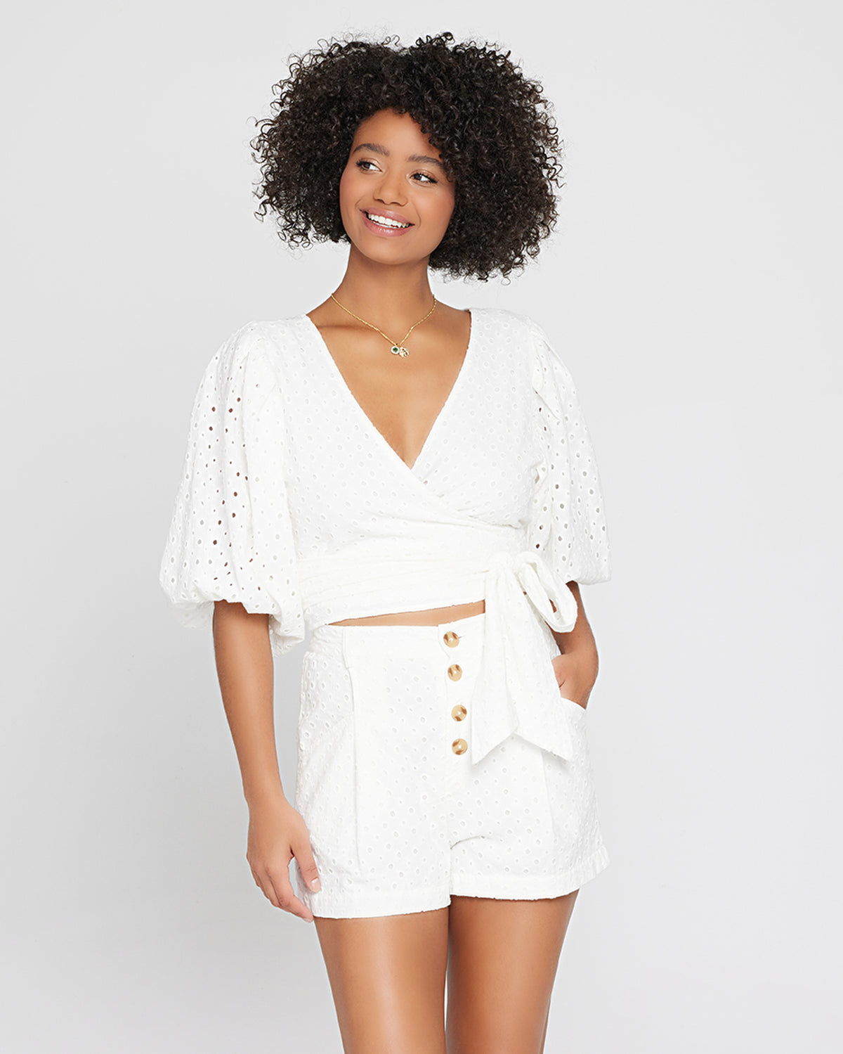 Eyelet Amalfi Crop Top