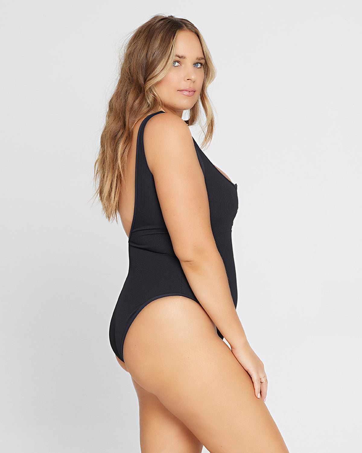 Ribbed Float On One Piece Swimsuit