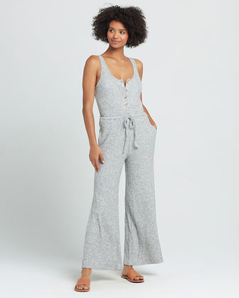HEAD-IN-THE-CLOUDS RIBBED JUMPSUIT