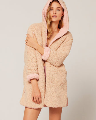 JONESIN' FAUX-SHERPA JACKET