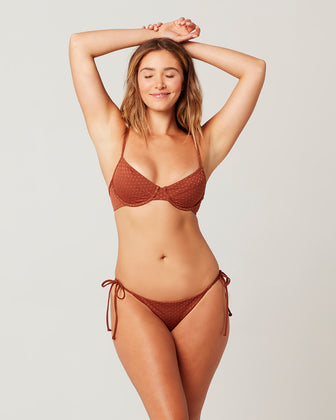 ON THE DOT TEXTURE MISSY BIKINI TOP