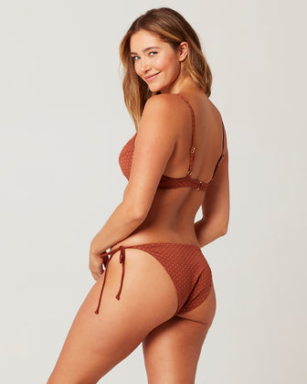 ON THE DOT TEXTURE LILY BIKINI BOTTOM