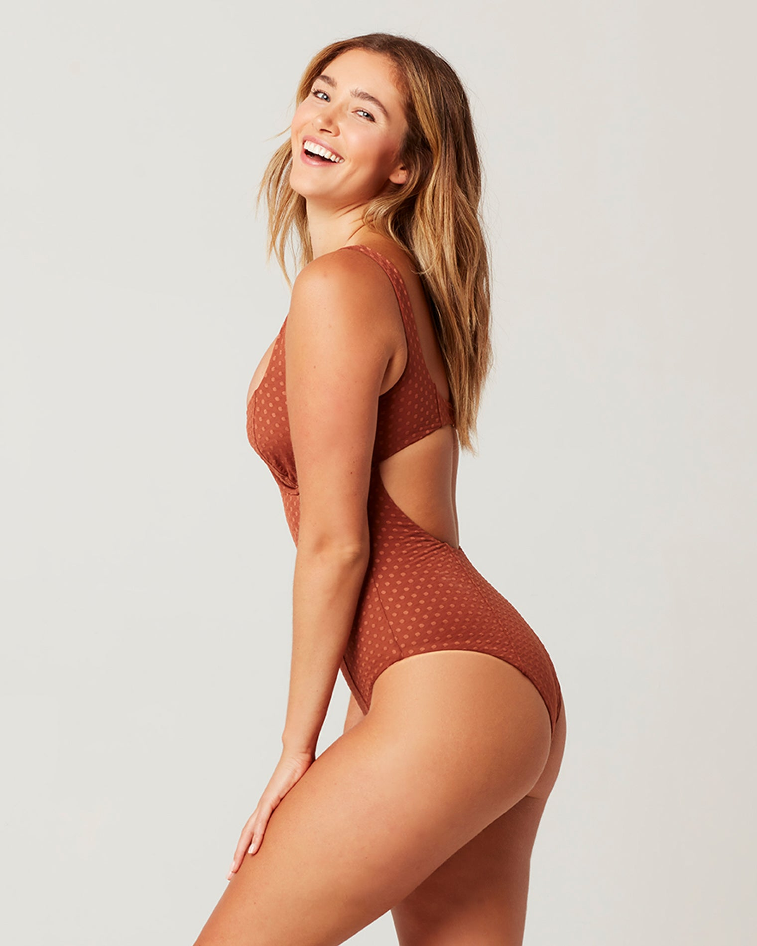ON THE DOT TEXTURE NICOLETTE ONE PIECE SWIMSUIT