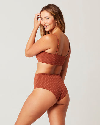 ON THE DOT TEXTURE PORTIA BIKINI BOTTOM
