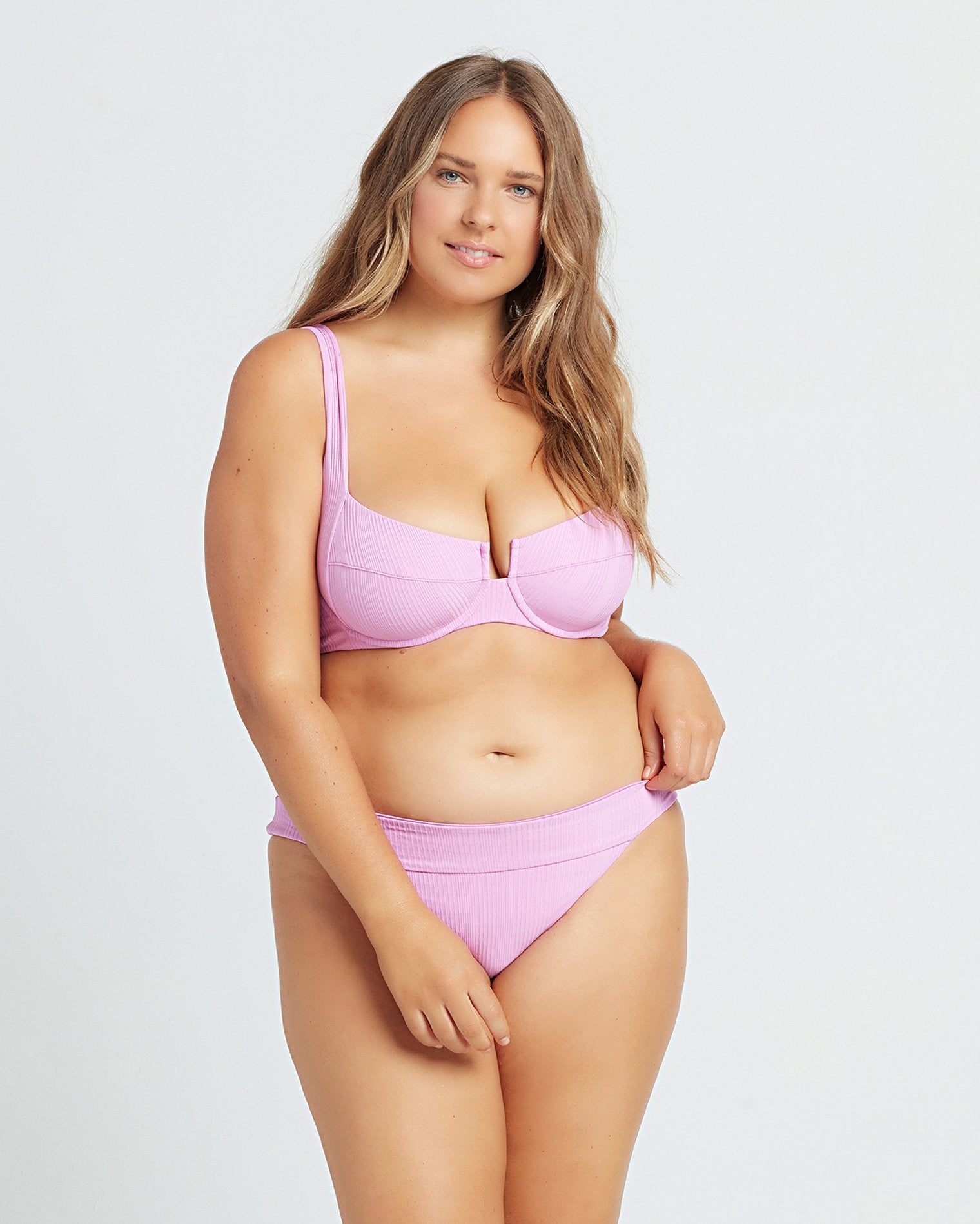 POINTELLE RIB VERONICA BIKINI BOTTOM