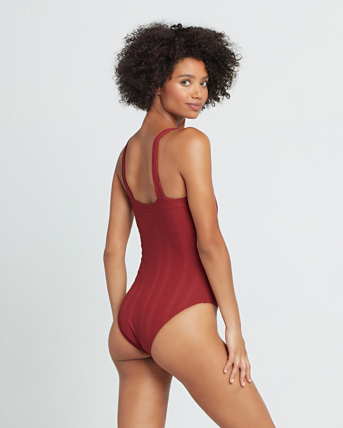 Pointelle Rib Cha Cha One Piece Swimsuit