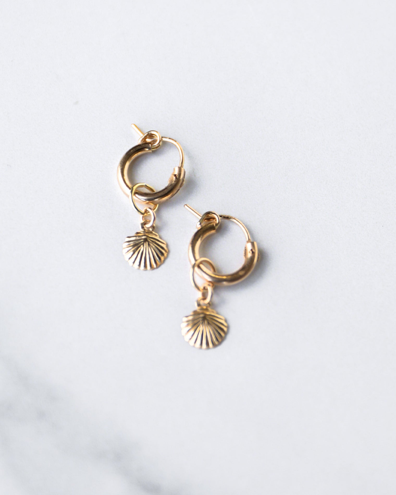 Erin Fader Shell Charm Hoops