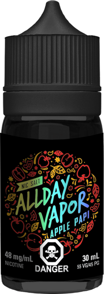 "All Day Vapor "" APPLE PAPI '' 30 ML"