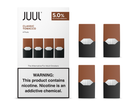 JUUL '' 4 Pods '' Pack / GOLD Tobacco-Flavor