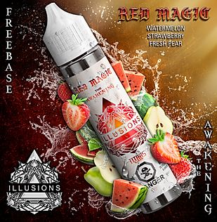 ILLUSIONS VAPOR 'Red Magic' NIC Base 60ML