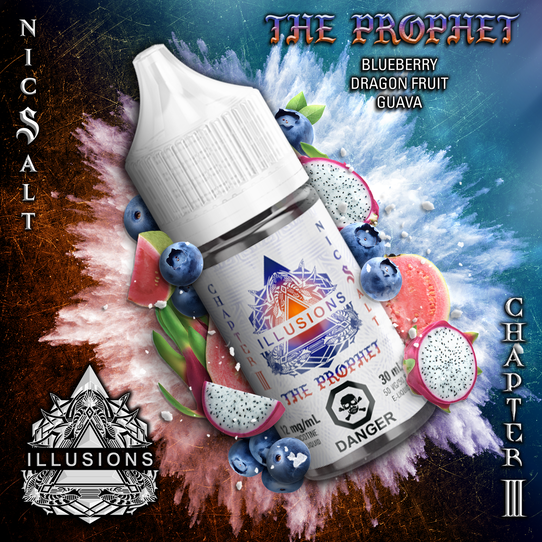 ILLUSIONS VAPOR ' The Prophet' NIC SALT 30ML