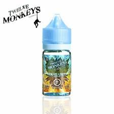 "Twelve Monkey's '' Mangabeys ICE "" 30ML/ NIC Salt"