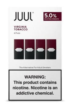 JUUL '' 4 Pods '' Pack /  Virgin Tobacco-Flavor