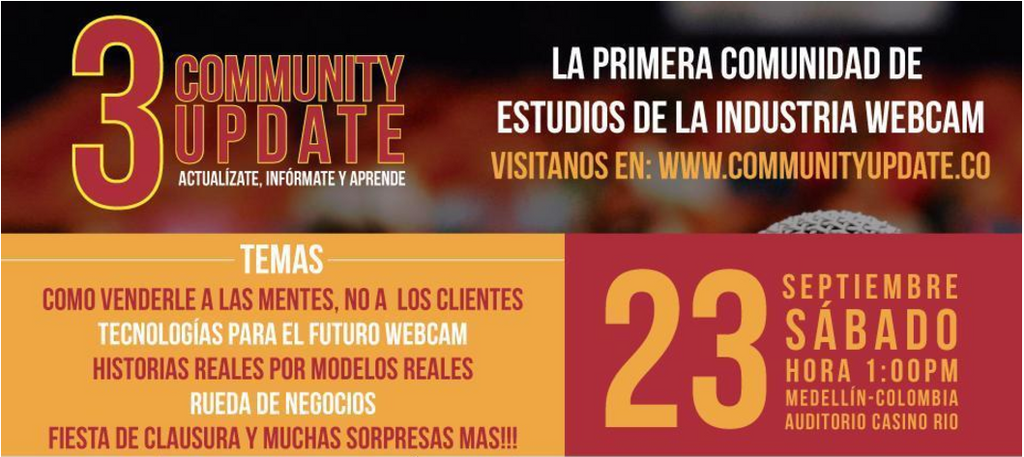 Community Update - Evento De La Industria WebCam
