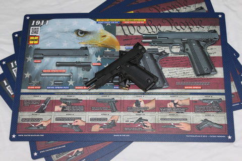 Land of the Free 1911 Padded Gun Cleaning Mat by Tactical Atlas