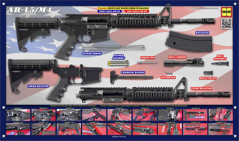 Land of the Free AR-15 Poster - Tactical Atlas