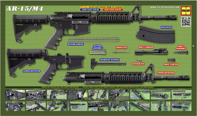 AR-15 Gun Cleaning Mat (OD Green) !!! NOT FOR SALE !!! - Tactical Atlas