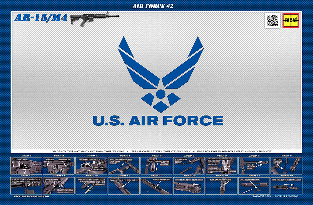 The United States Air Force M4 Padded Gun Cleaning Mat by Tactical Atlas - Tactical Atlas