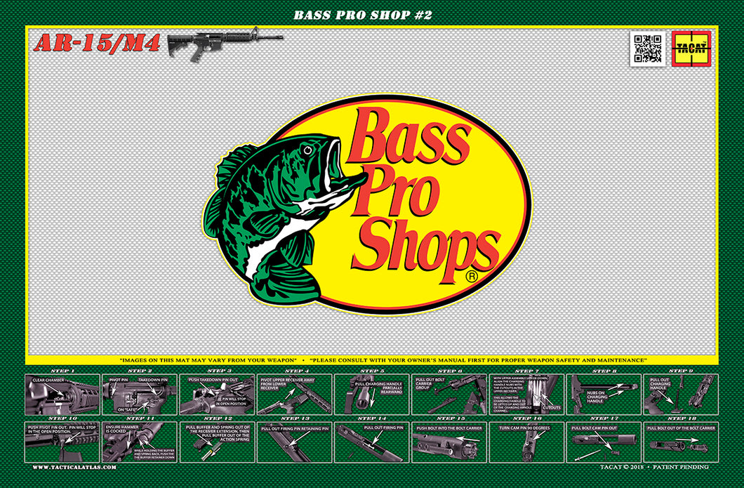 Bass Pro Shops AR15 Padded Gun Cleaning Mat by Tactical Atlas