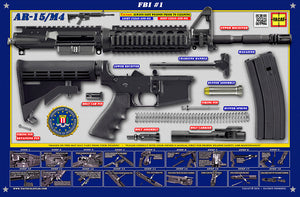 The FBI M4 Padded Gun Cleaning Mat by Tactical Atlas - Tactical Atlas