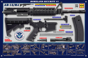 The United States Department of Homeland Security M4 Padded Gun Cleaning Mat by Tactical Atlas - Tactical Atlas