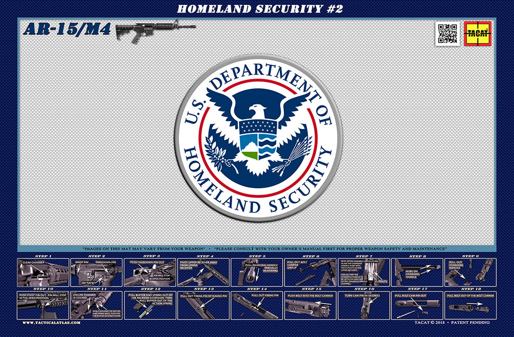 The United States Department of Homeland Security M4 Padded Gun Cleaning Mat by Tactical Atlas