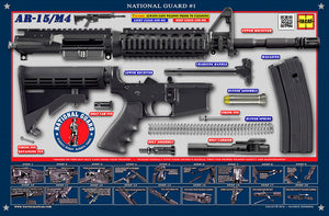 The United States National Guard M4 Padded Gun Cleaning Mat by Tactical Atlas