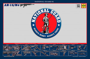 The United States National Guard M4 Padded Gun Cleaning Mat by Tactical Atlas - Tactical Atlas