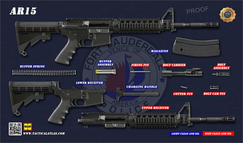 TACAT Pro M4 / AR-15 Gun Cleaning Mat (Fort Lauderdale PD) - Tactical Atlas