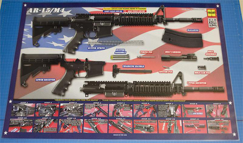 AR-15_SPC Gun Cleaning Mat by TACAT (Land Of The Free)