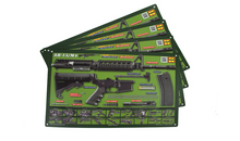 . OD Green AR-15 Padded Gun Cleaning Mat by Tactical Atlas