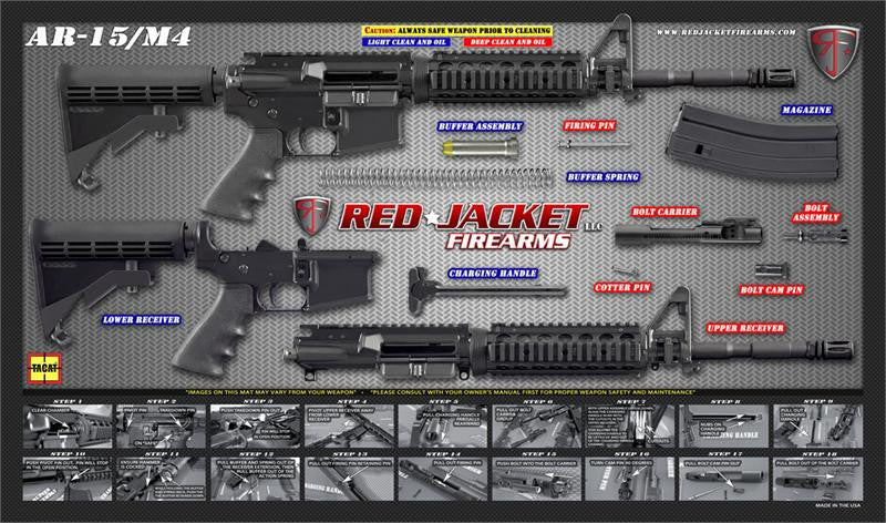 TACAT Pro M4 / AR-15 Gun Cleaning Mat (Red Jacket Gray)