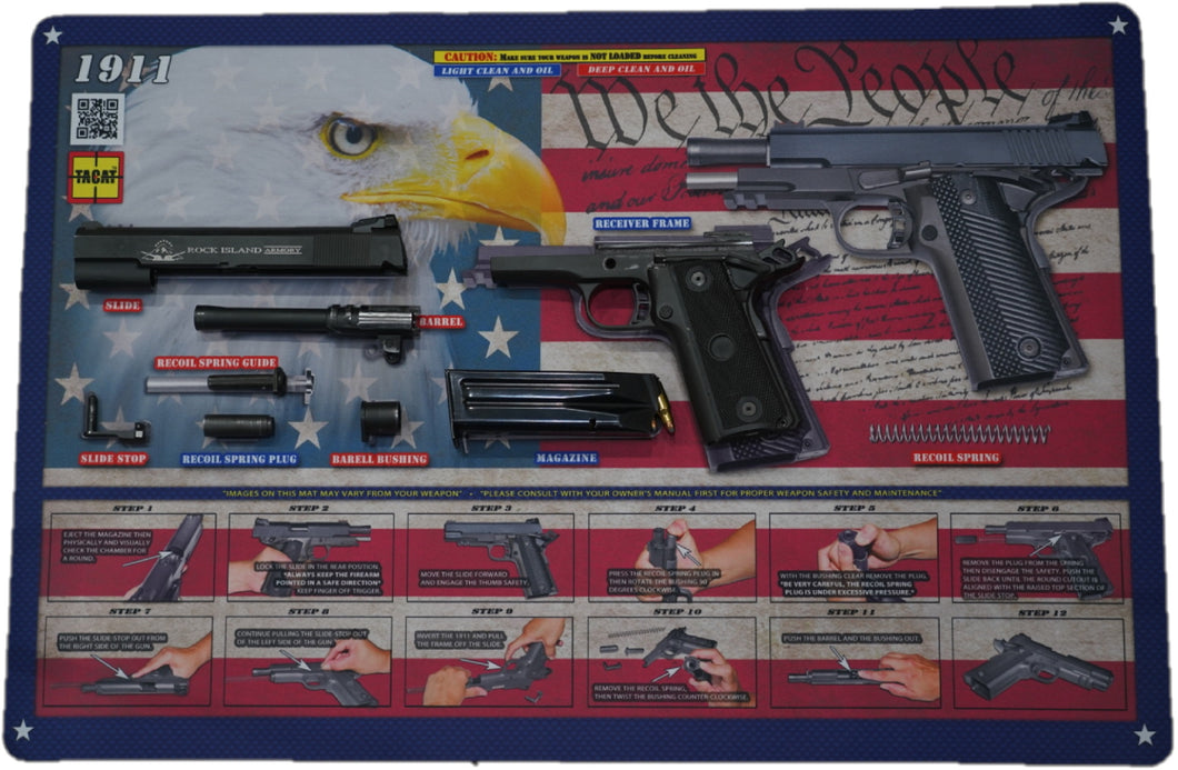 . 1911 - We the People - Padded Gun Cleaning Mat by Tactical Atlas - Tactical Atlas