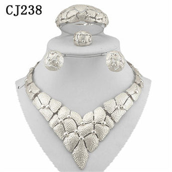 FOUR PIECE 18K WHITE GOLD  PLATED SILVER  NECKLACE SETS