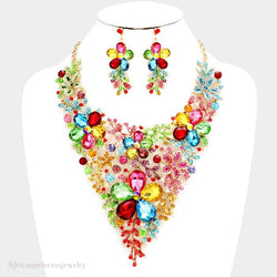 EVENING CRYSTAL NECKLACE SET