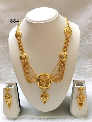 THREE PIECE INDIAN/AFRICAN GOLD PLATED NECKLACE SET
