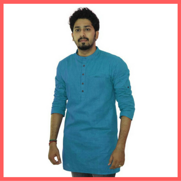 Blue Kurta for Men - Holi - Dressprise - Amazon