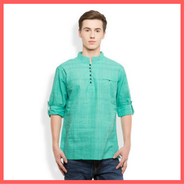 Green Kurta for Men - Dressprise - Flipkart
